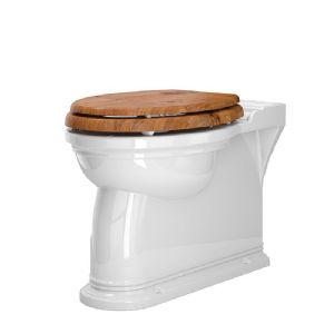 2879 Perrin & Rowe Victorian Back to Wall WC with Optional Seat - Gold Finish